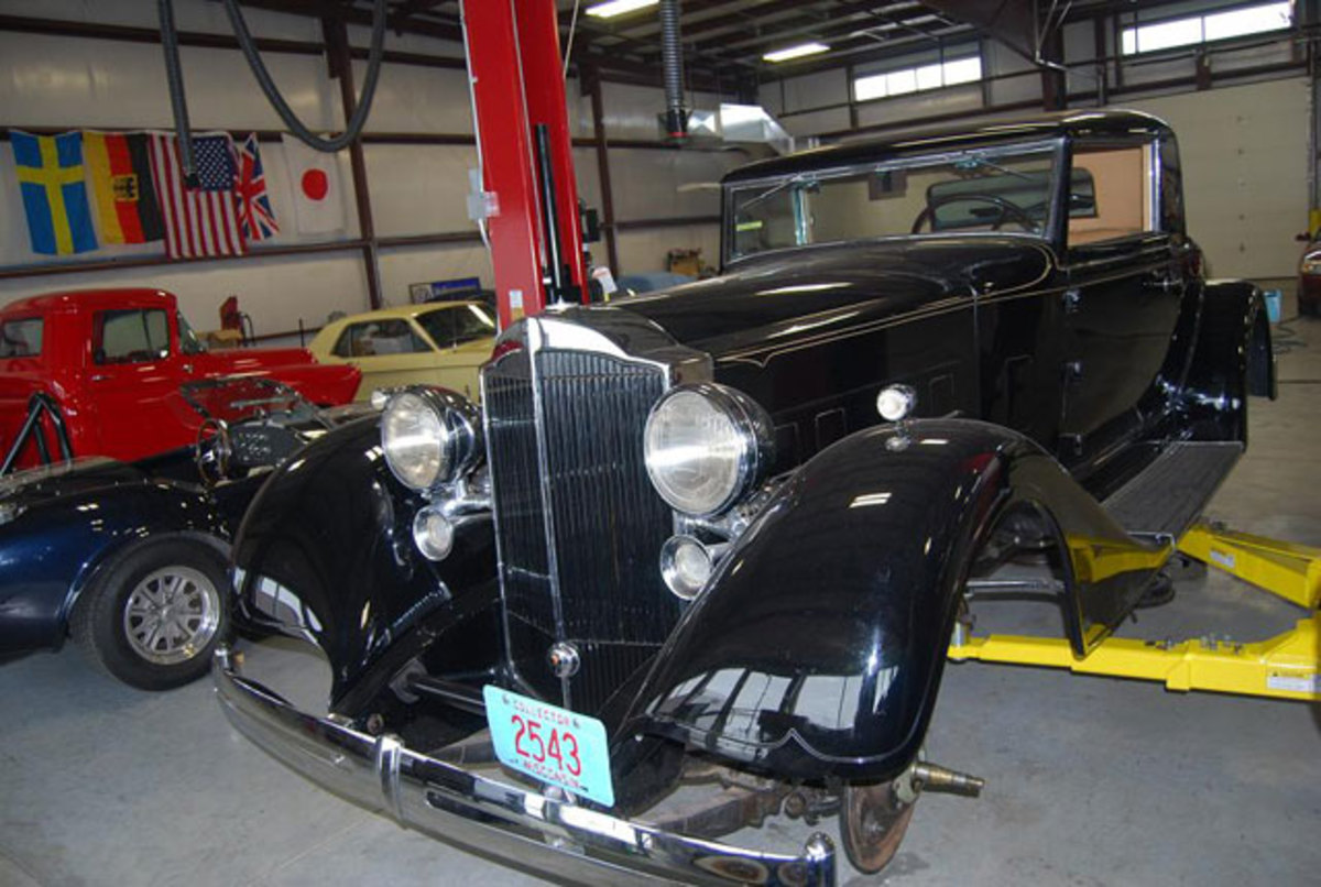 Cars being repaired at Classic Mechanical LLC's new Neenah, Wis., shop.