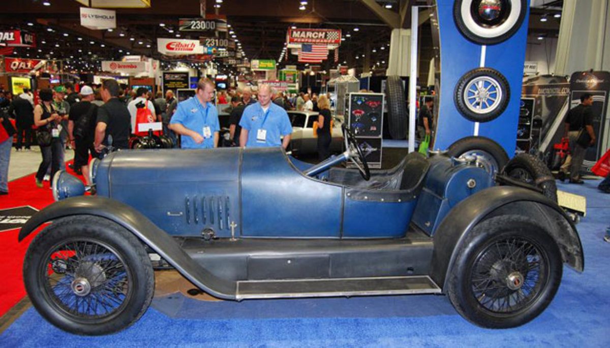 """Coker will looking for barn finds like this """"amazingly authentic"""" unrestored 1924 Mercer that appeared at the SEMA Show in 2012."""