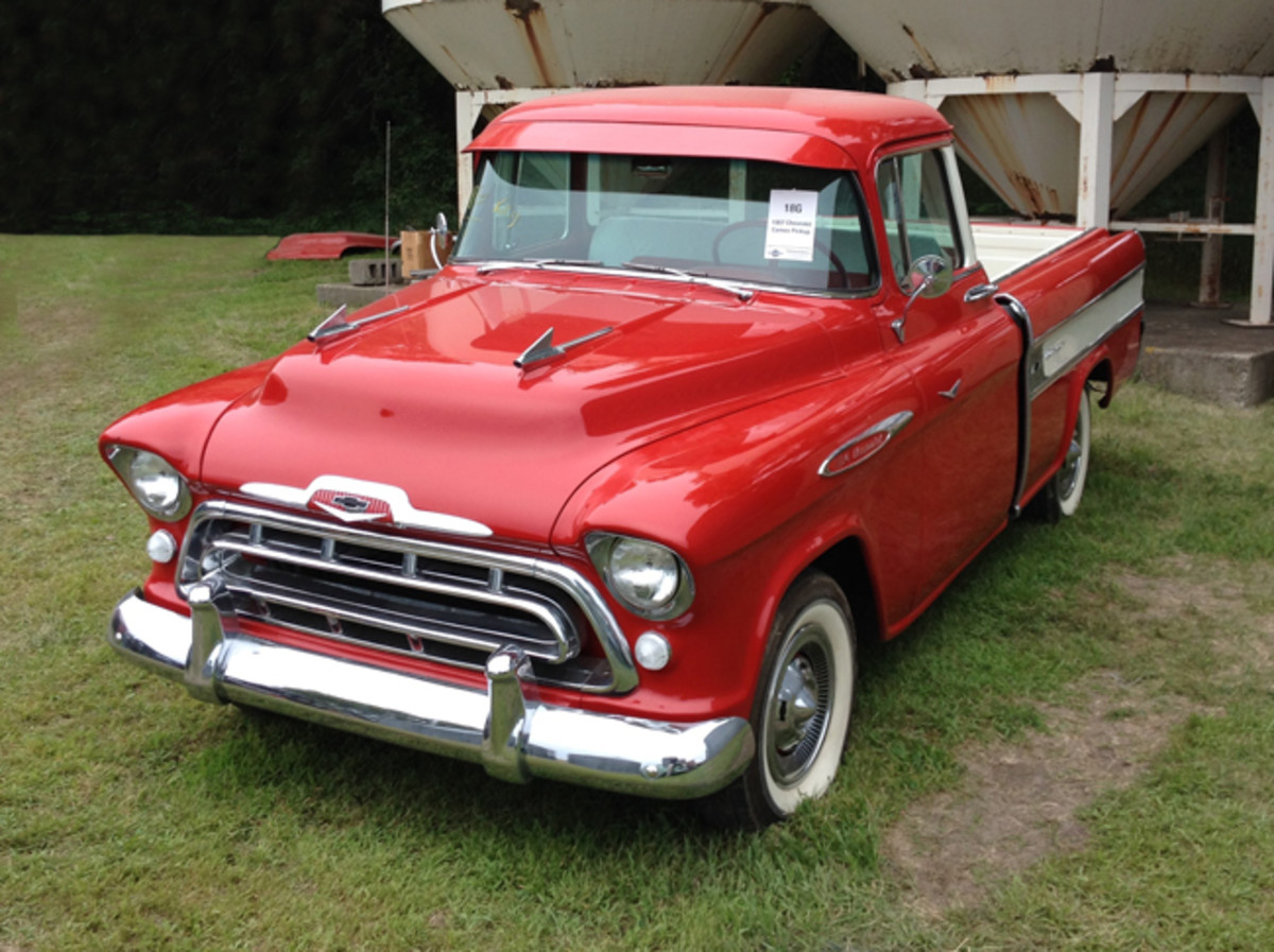 This '57 Chevy Cameo 3124 pickup sold for $55,000.