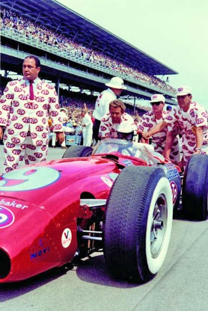 The STP pajamas caused quite a stir at the Speedway and were a great promotional item.