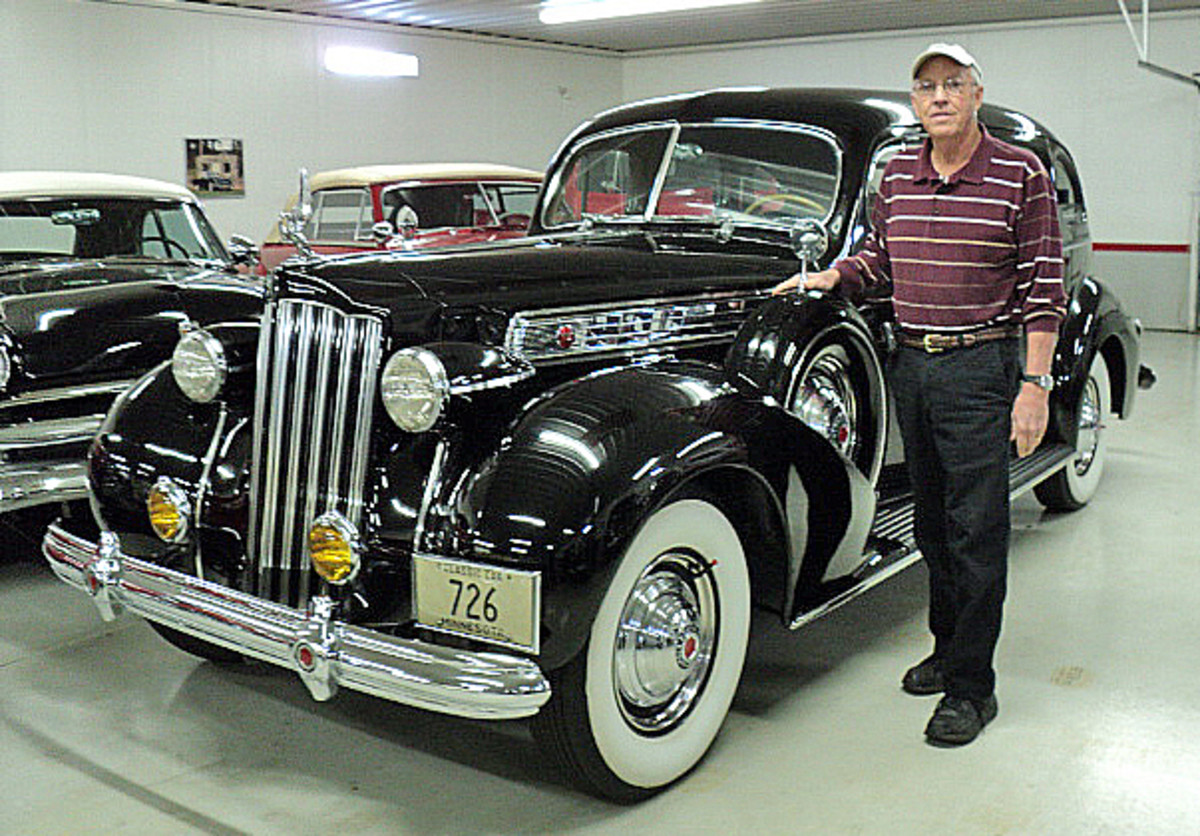 Minor plans to keep this fabulous 1939 Packard Super Eight sedan. The rest will head to the auction block.