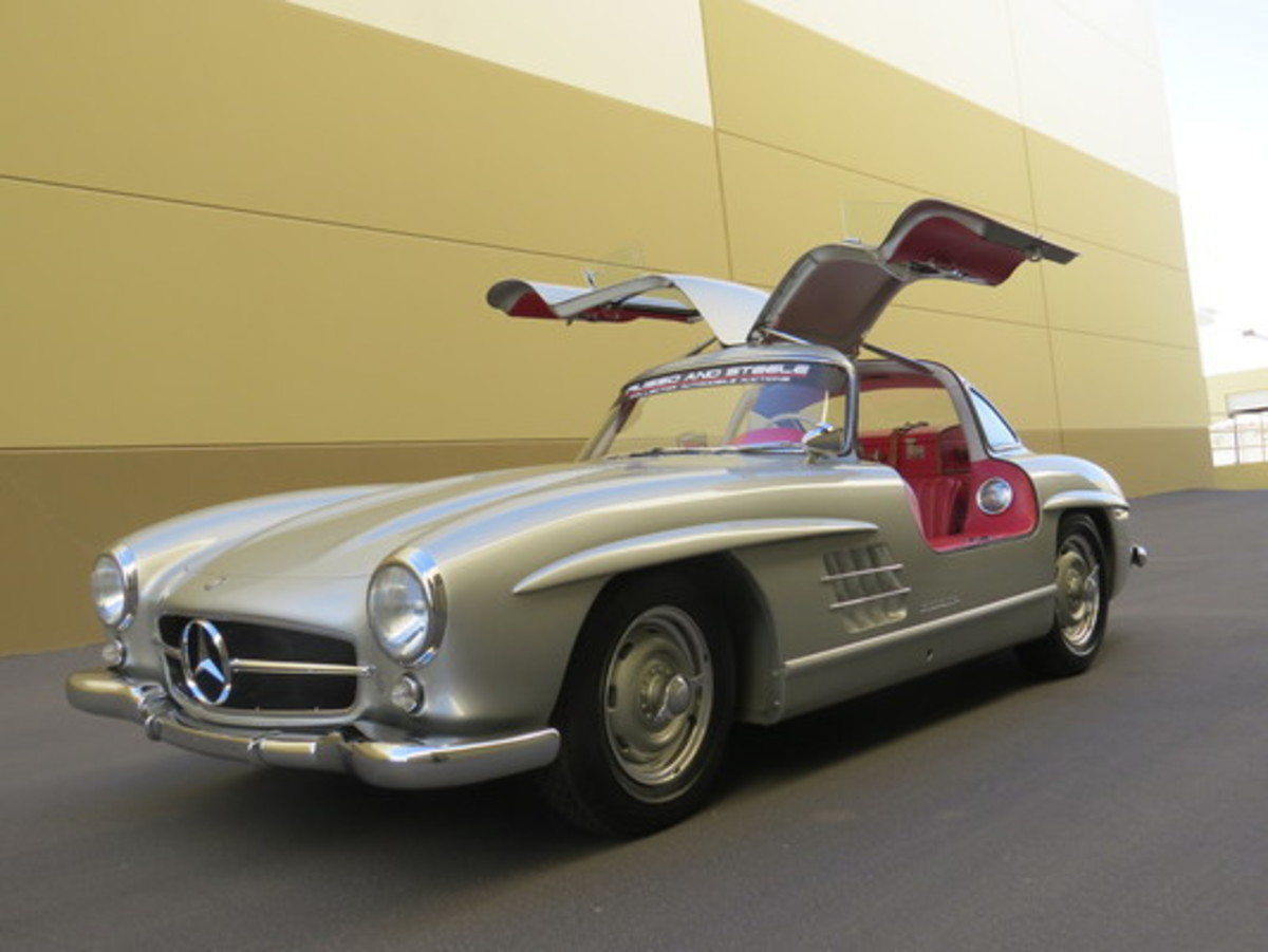 This 1956 Mercedes-Benz 300SL Gullwing sold for $1.32 million at Russo and Steele's auction.