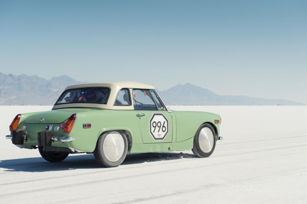 On Sept, 7, 2014, Milwaukee Midget Racing established a new Bonneville course record of 122.539 mph for the I/GT class. This was the oldest standing record in the GT category—it stood unbeaten for over 22 years.