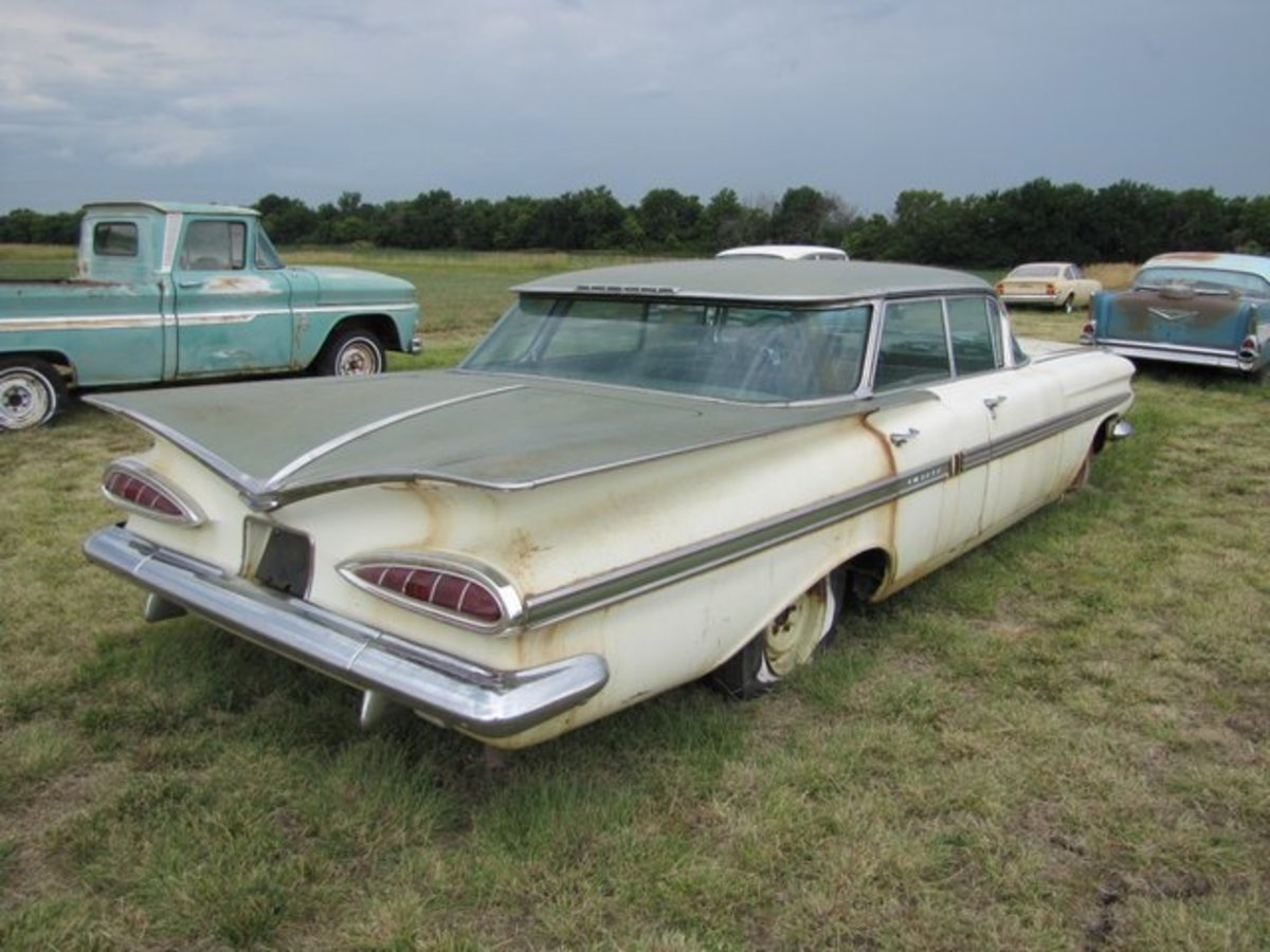 There are just two miles on this 1959 Chevrolet Impala Sport Sedan.