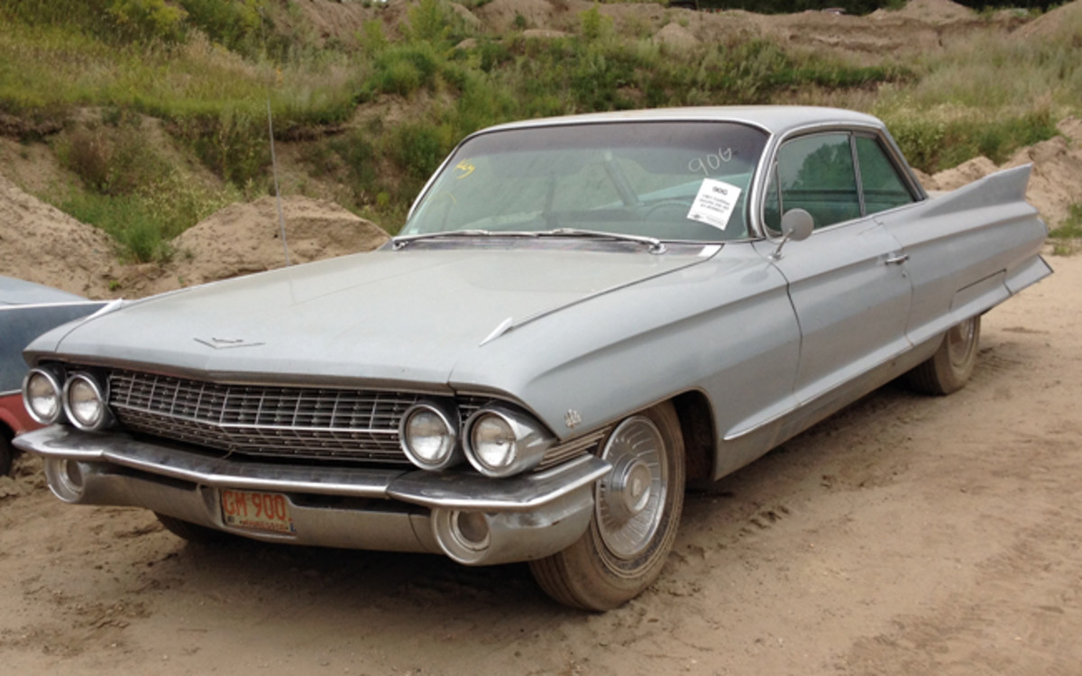 This 1961 Cadillac Coupe de Ville sold for $9,500.