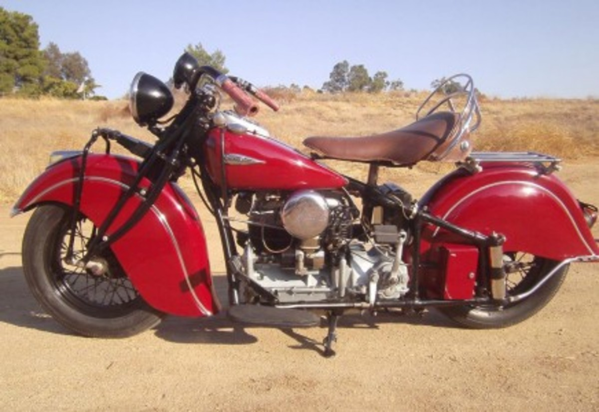 This Indian Four was purchased in 1984 at the Steve McQueen Estate Auction. Seller's father enjoyed and rode this bike for many years. Unrestored – looks and runs great.