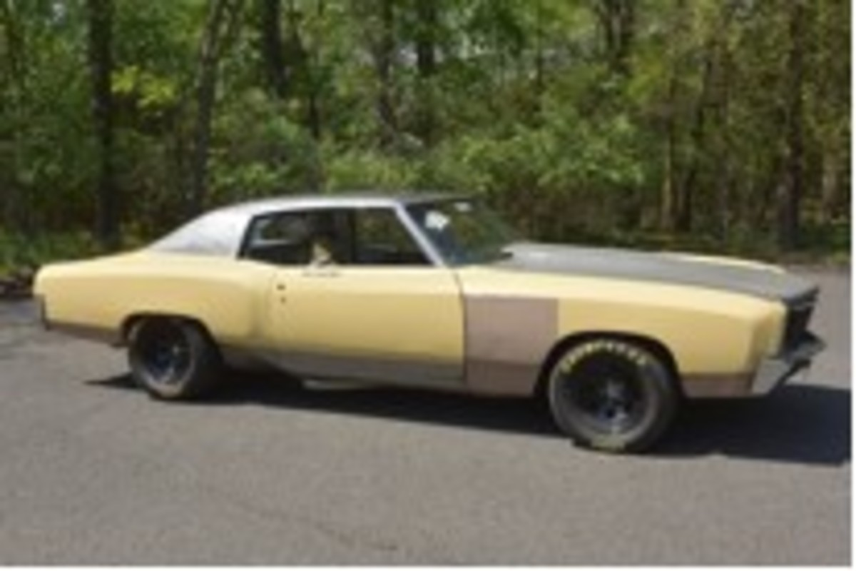 """A 1970 Chevrolet Monte Carlo used in the filming of """"Fast and Furious: Tokyo Drift."""""""