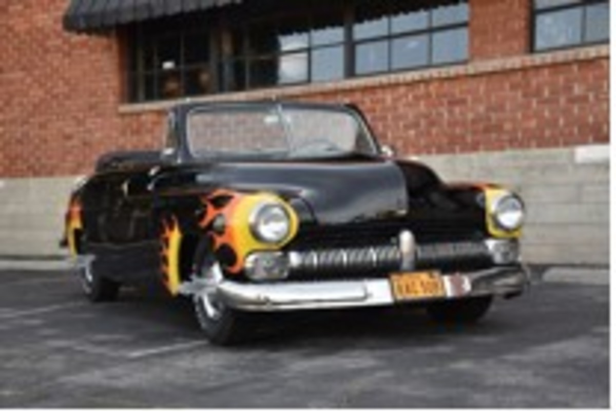 """The Hells Chariot 1949 Mercury convertible from the film """"Grease"""""""