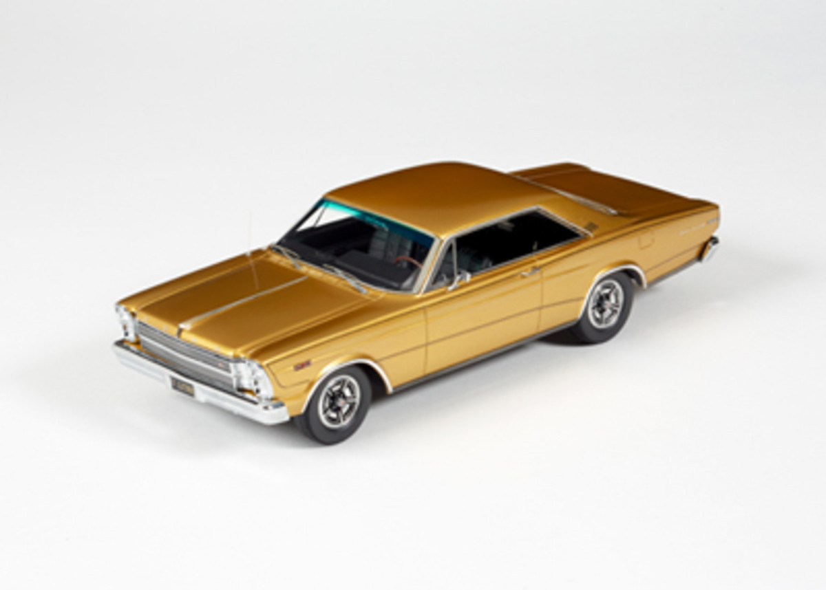 The Automodello 1966 Ford Galaxie 500 7-Litre Hardtop Enthusiasts Edition in Antique Gold is priced at $465.95.