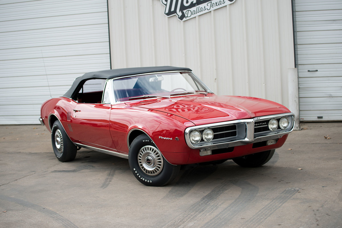 This red convertible was the first Firebird built: a 1967 model with the 326-cid V-8. It is believd to have appeared at the Chicago Auto Show.