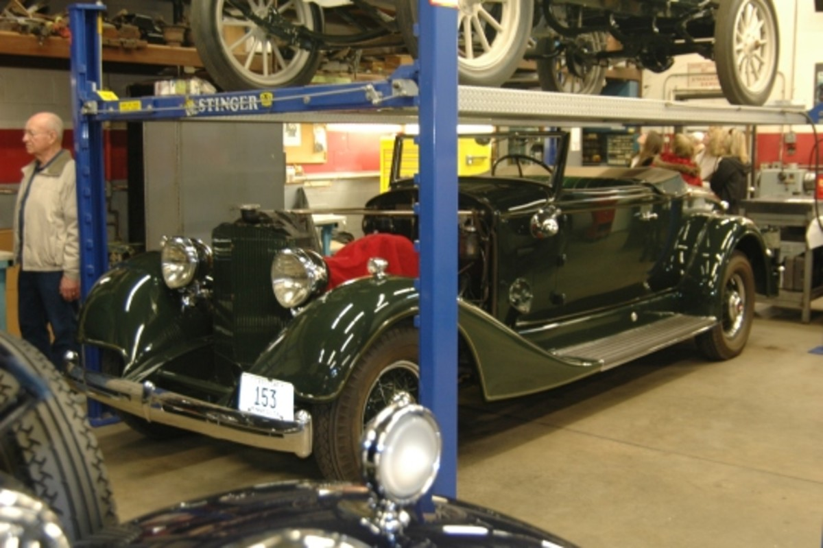 Odyssey Restorations completes full and partial restorations. This splendid 1934 Packard Eight Coupe Roadster is undergoing a freshening.