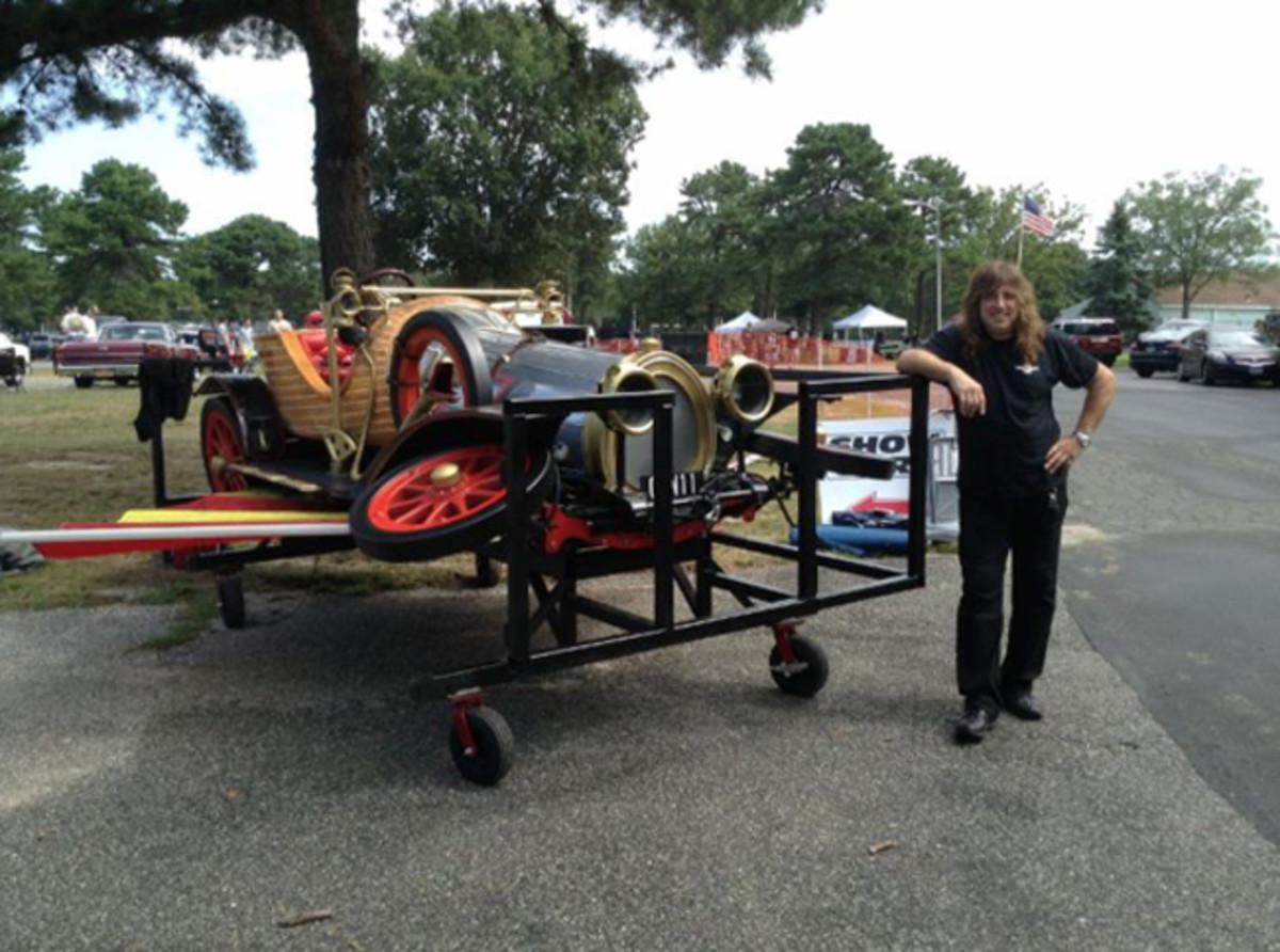 Tony Garofalo with his Chitty stage prop
