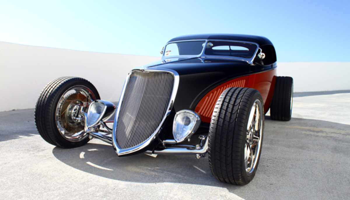 """""""Double Dozen"""" a hand-built roadster whose design is based on a 1933 Ford, is the latest in a long line of vehicle donations in the Petersen Automotive Museum."""
