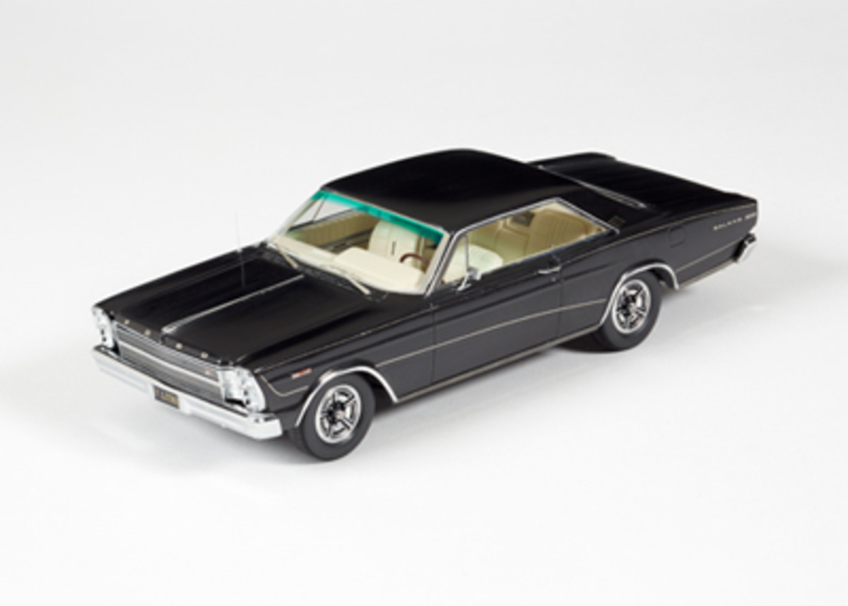 The 1966 Ford Galaxie 500 7-Litre Hardtop Homage Edition Black in 1:24 is priced at $449.95.