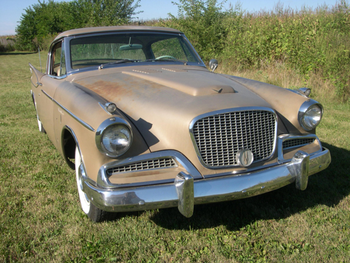 This Golden Hawk is still wearing its original paint and all of its chrome. Reynolds is uncertain if the car will get a restoration in the future. For now, it gets plenty of attention in its original state.