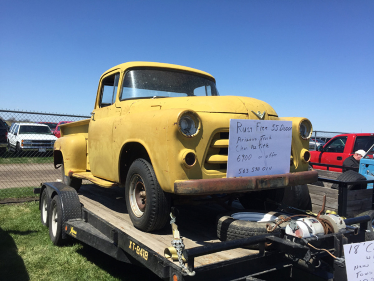 As a super solid Arizona truck, this V-8-powered 1955 Dodge pickup was a great foundation for a restoration project. It's also easy to picture a period dual-quad D-501 Hemi engine under the hood. The asking price was $6900.