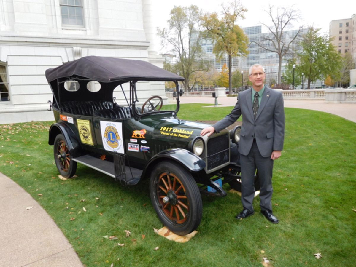 Kevin Petersen with the 1917 Oakland
