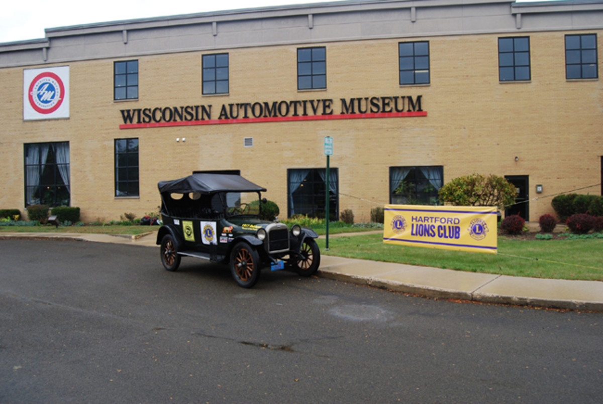 Hartford Lions showed support at the Wisconsin Automotive Museum