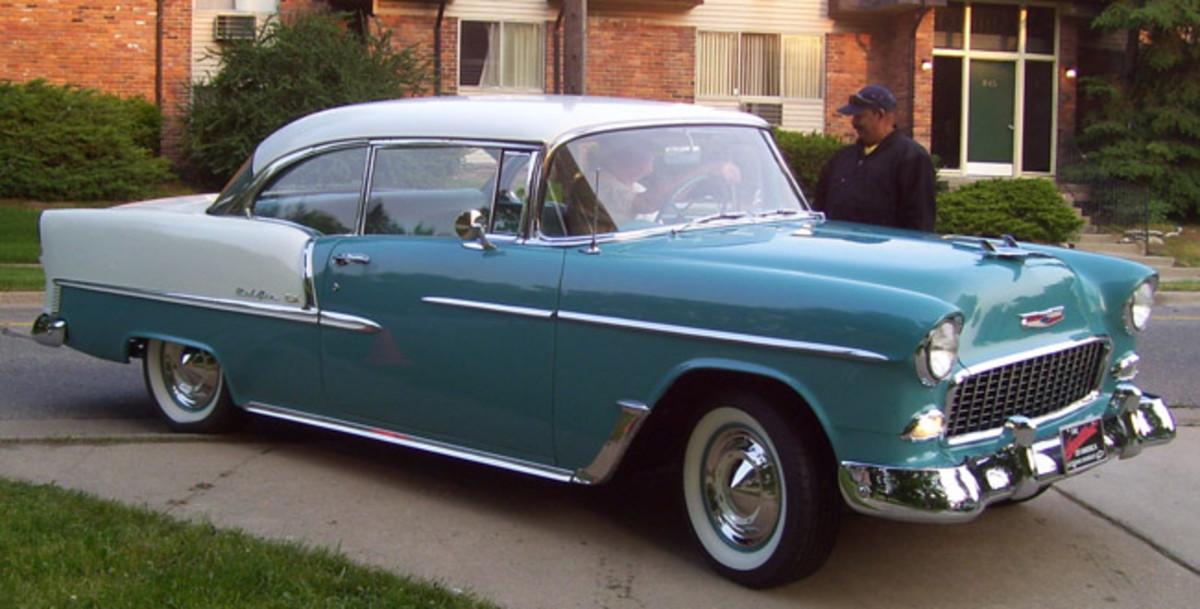 1955 Chevrolet Belair V8, owned by Eric Bothwell, Rochester