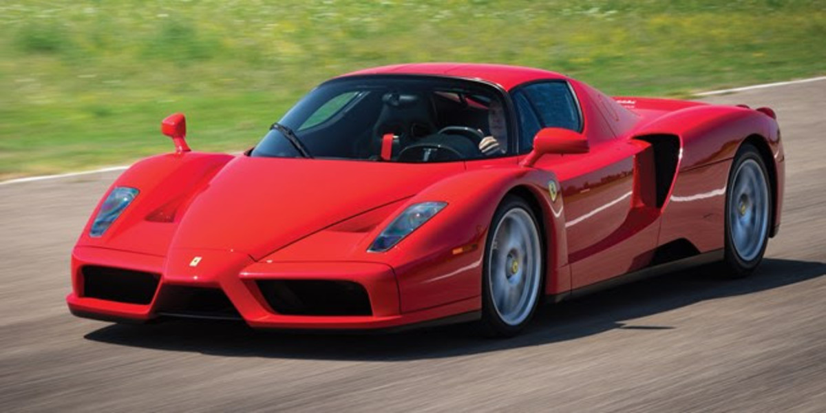 2003 Ferrari Enzo (Est. £1,850,000 - £2,000,000)One of the most iconic supercars of all time, the Enzo on offer is a single ownership example with less than 6,100 km from new. Finished in the quintessential colour combination of Rosso Corsa over Nero, this Enzo has been properly cared for and regularly exercised and enjoyed all its life, presenting beautifully throughout.