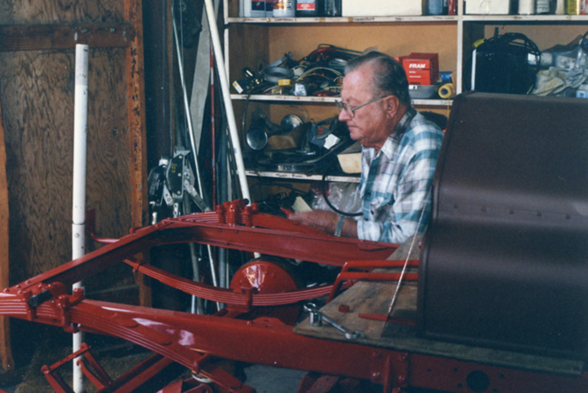 The Buick became part of his collection about a year ago, but the Olds has been in Ruben's garage a long time — he says it took him more than 20 years to restore.