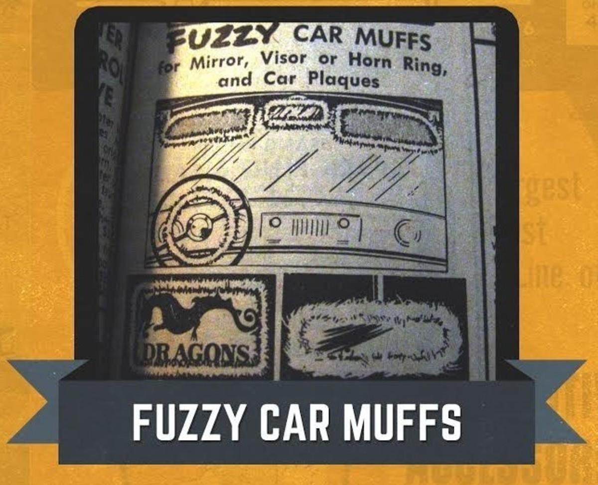JC Whiitney Fuzzy Car Muffs