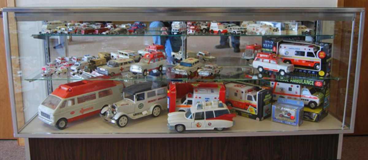 Part of the toy ambulance collection at GGG.