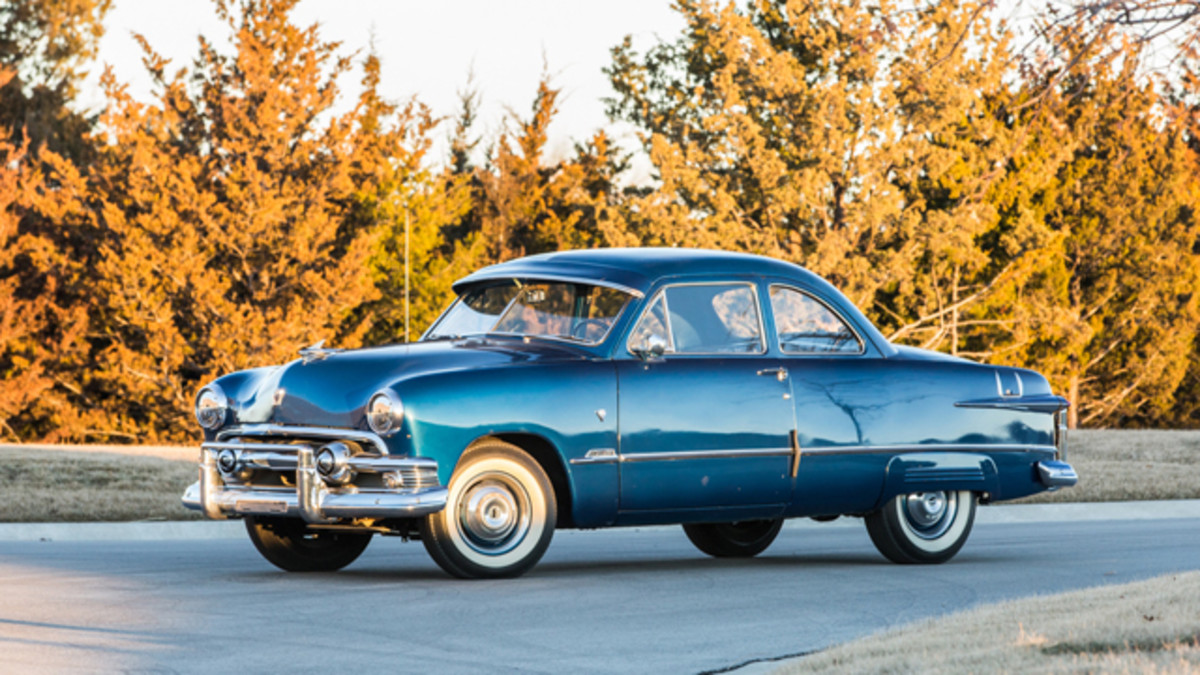 From The Ron Deffenbaugh Collection, 1951 Ford Custom (Lot F154). Photo by Jeremy Cliff, Courtesy of Mecum Auctions.