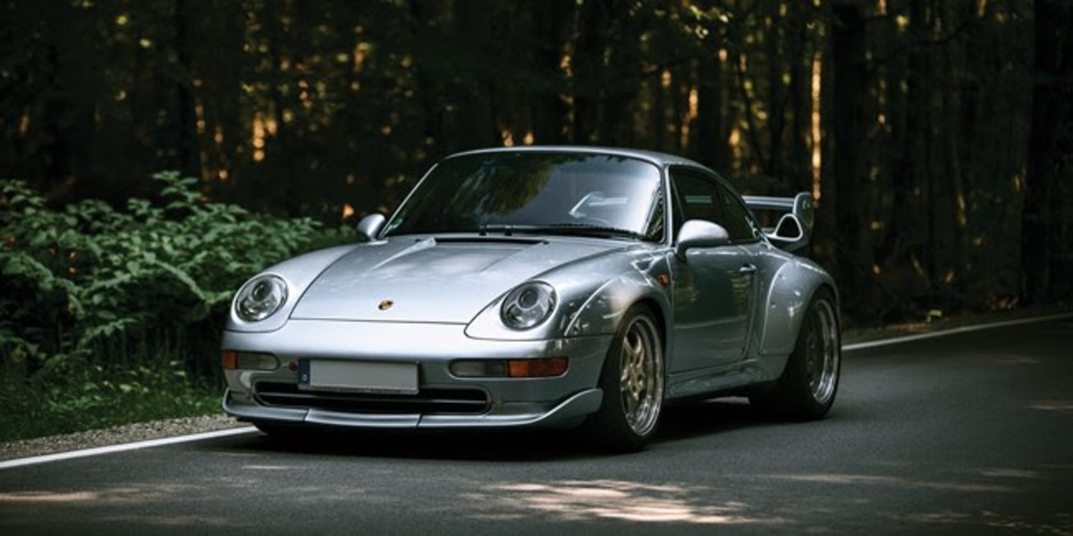 1996 Porsche 911 GT2 (Est. £725,000 - £850,000)One of just 190 examples built and offered by its first and only owner in highly original condition. The silver 911 GT2 offered has been carefully maintained throughout its life and retains its factory appearance, including its distinctive fender flares, two-tier fixed spoiler, and its wide alloy wheels. Delivered to 430 bhp specifications in 1996, the engine was upgraded to produce 450 bhp in 1998 by Porsche Zentrum MAHAG in Munich. Inside, its black and grey leather, two-tone fixed sports seats show limited wear, commensurate with the 136,000 km shown on its odometer.