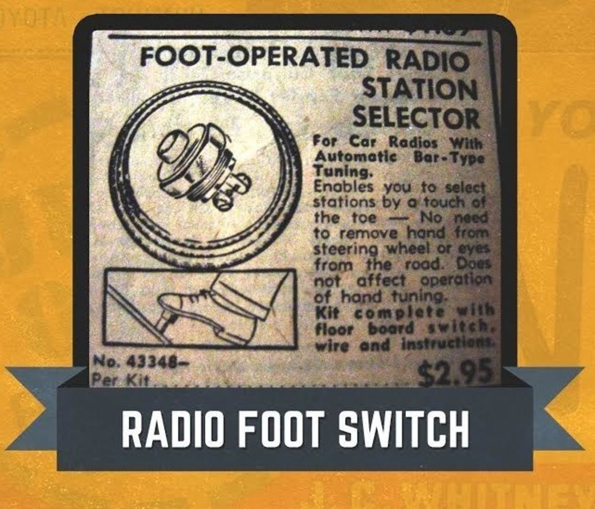 JC Whitney Foot-Operated Radio Switch