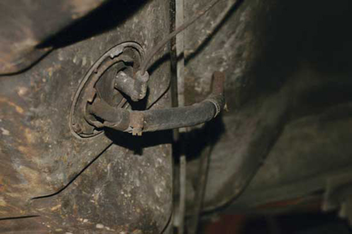 """Often this 2-inch flexible fuel line at the tank can be the cause of a lot of carburetion issues. As it deteriorates and cracks, it will leak. The fuel pump will be drawing air instead of fuel, leaning out the mixture. Eventually you will have a """"no start"""" situation."""