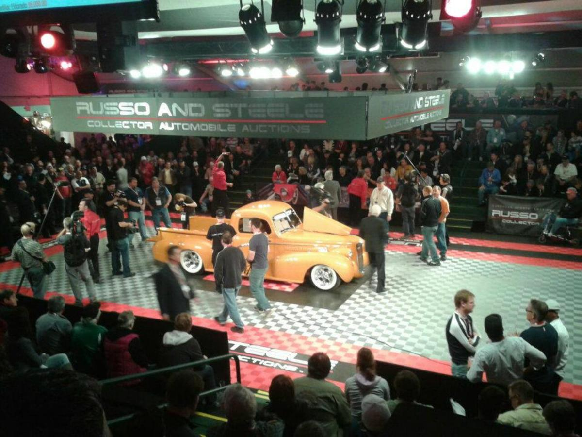 Gorgeous 1948 Ford truck with 1937 LaSalle body parts sold for $115,000.