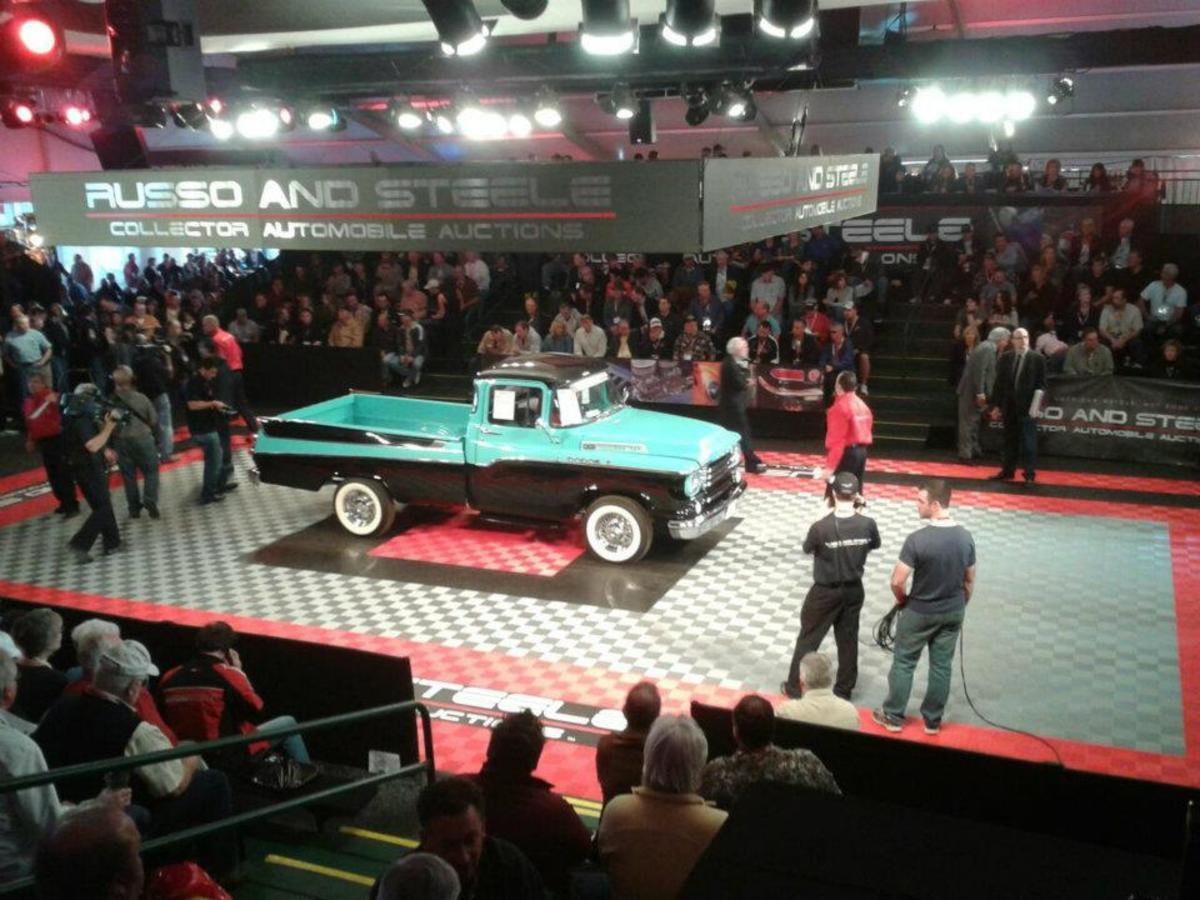 1958 Dodge Sweptside sold for $44,000.