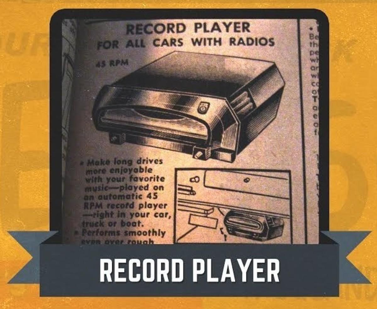JC Whitney Record Player