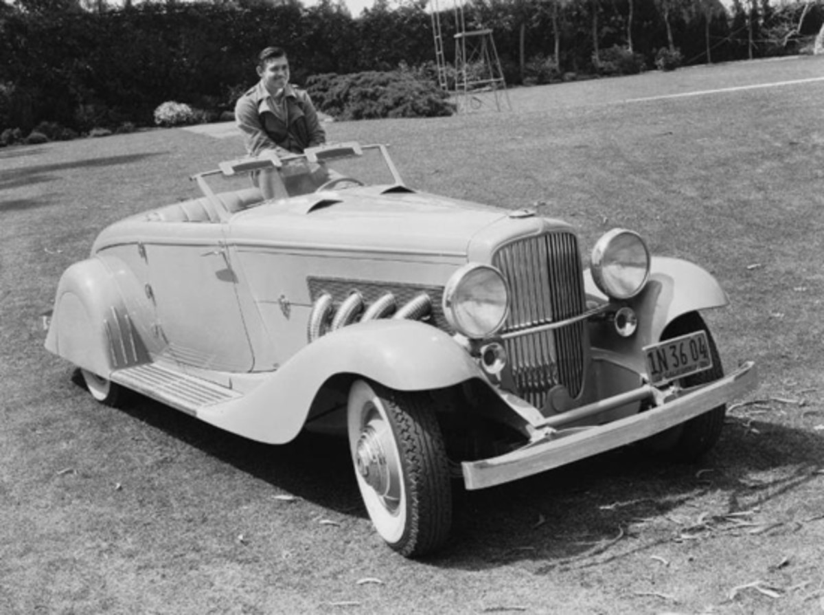 1935 Duesenberg JN Rollston Roadster restyled by Bowman & Schwartz - once owned by Clark Gable