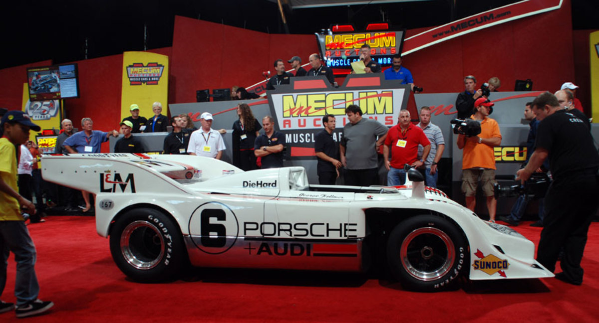 This historic Porsche 917 sold at Mecum for $5.5 million, quite a way to spend a Saturday afternoon.