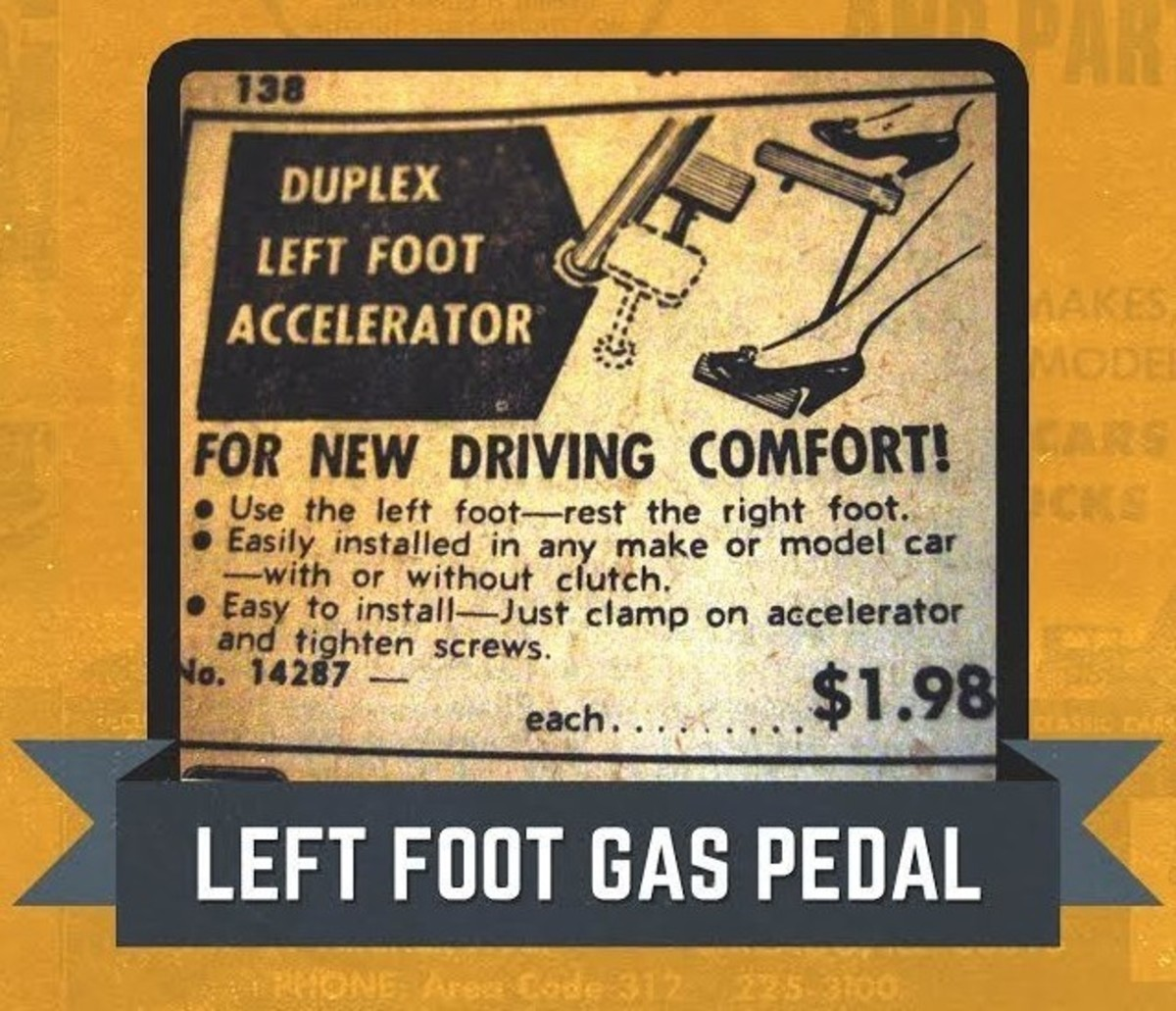 JC Whitney Left Foot Gas Pedal