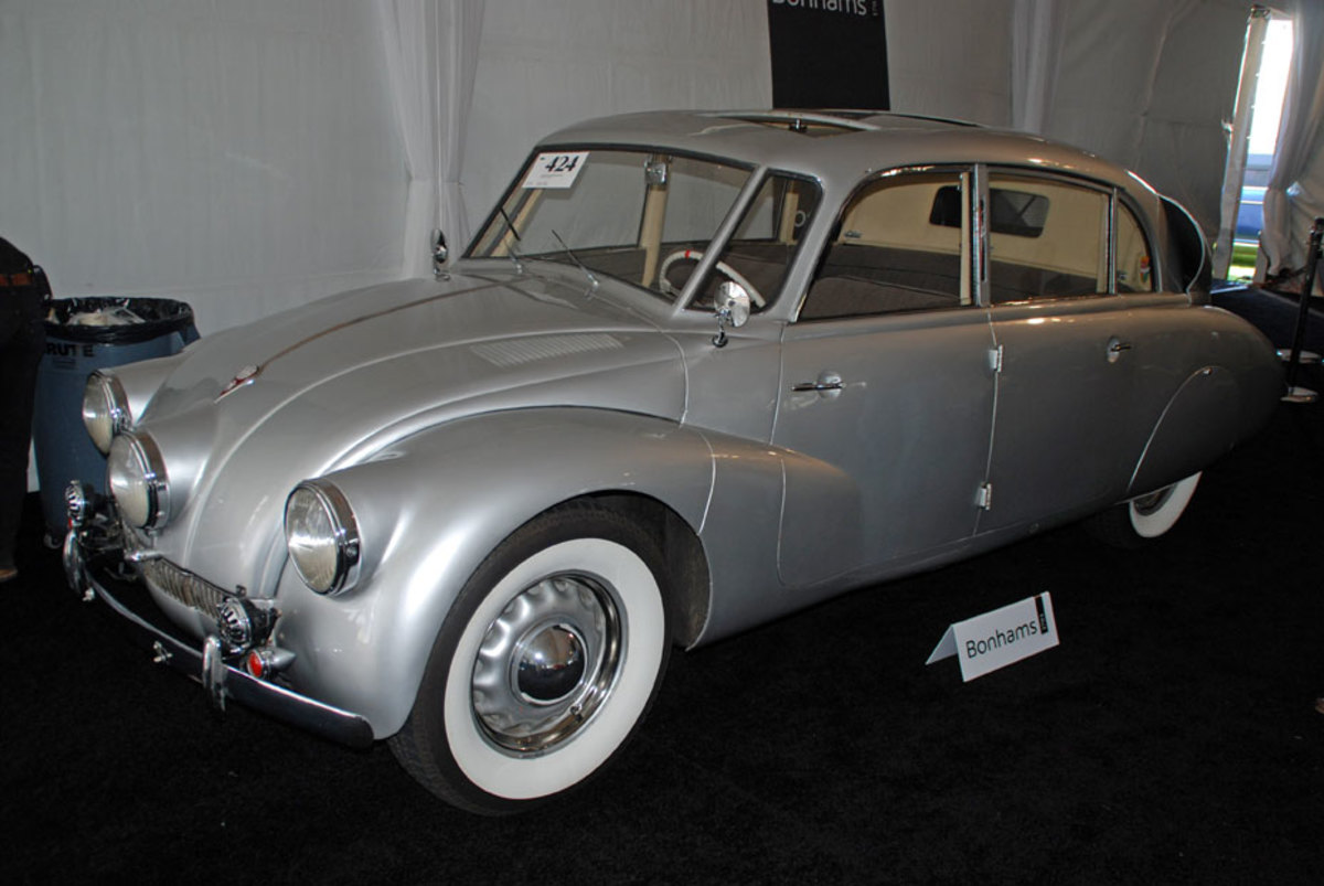 Unique looking and highly sought after, this 1937 Tatraplan called sold $230,000 at Bonham's sale.