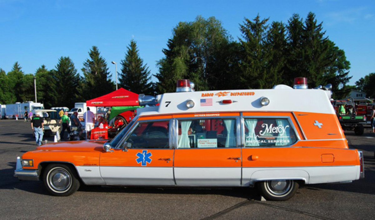 Superior Cadillac high-headroom ambulance at Eau Claire.
