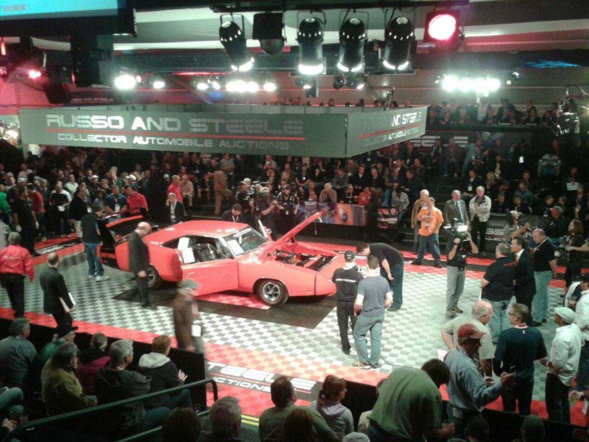 Freshly restored 1969 Dodge Daytona 440 Magnum sold for $108,000.
