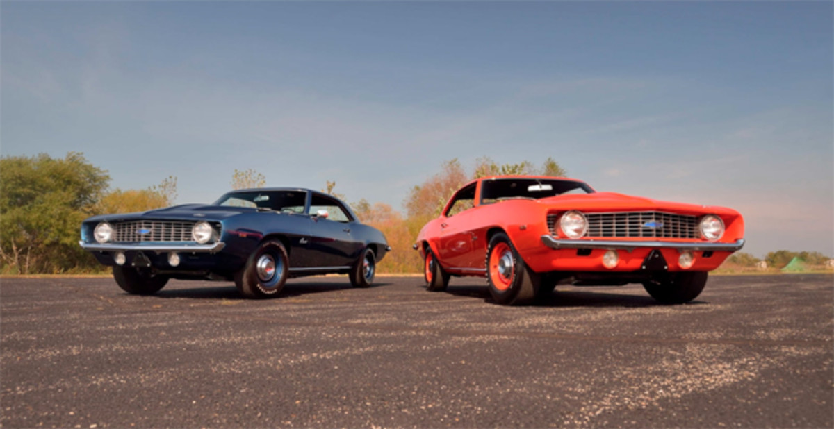 A pair of 1969 ZL1 Camaros to be sold together. Photo - Mecum