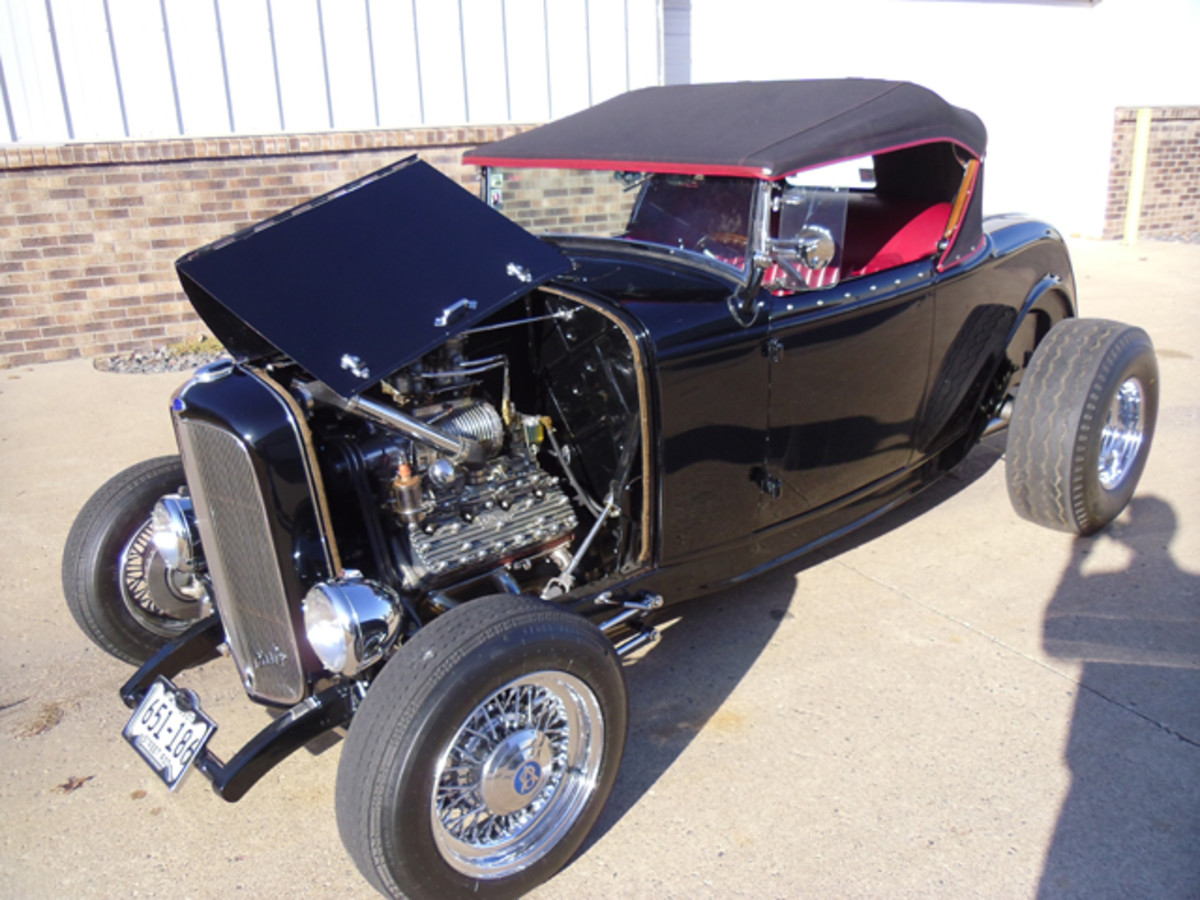 A modified 1932 Ford Model A.