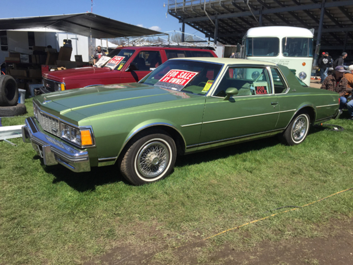 This two-owner 1979 Chevrolet Caprice Landau coupe had the 350-cid V-8 and just 42,000 miles. It had been spared all but one winter in its lifetime and was offered at $12,500 or best offer.