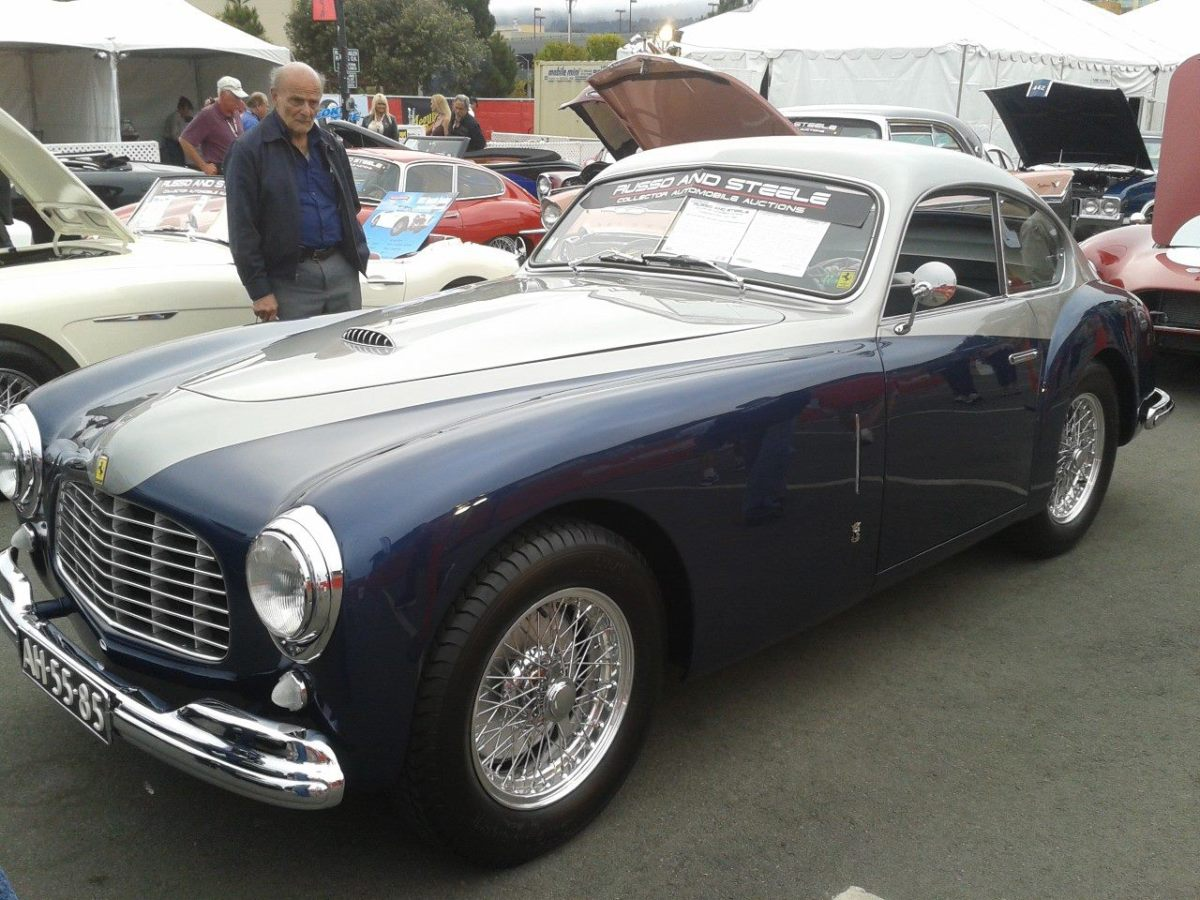 Russo and Steele sold this 1949 Ferrari 166 Inter Berlinetta for $1.05 million during its Monterey sale.