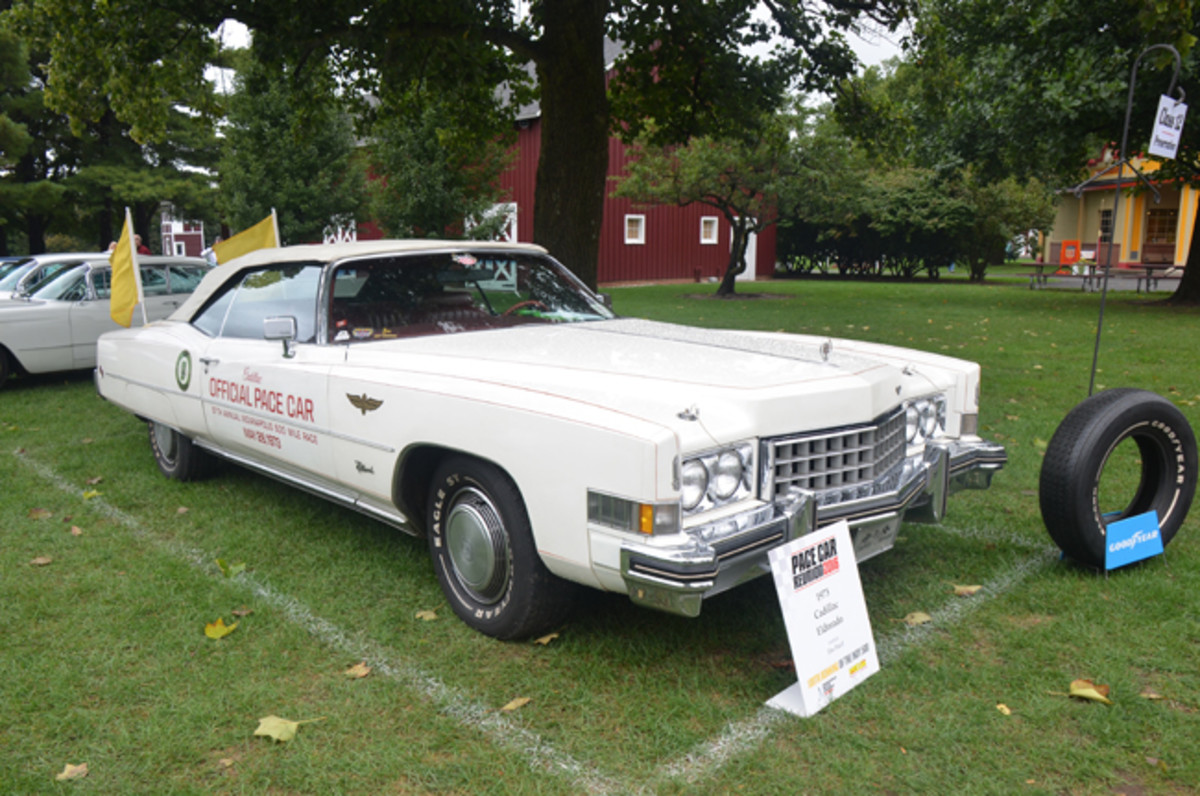 This 1973 Cadillac Eldorado Indy 500 Pace Car owned by Tim Pawl was a track-used car. The '73 Eldorado was the first pace car to run on track day with radial tires.
