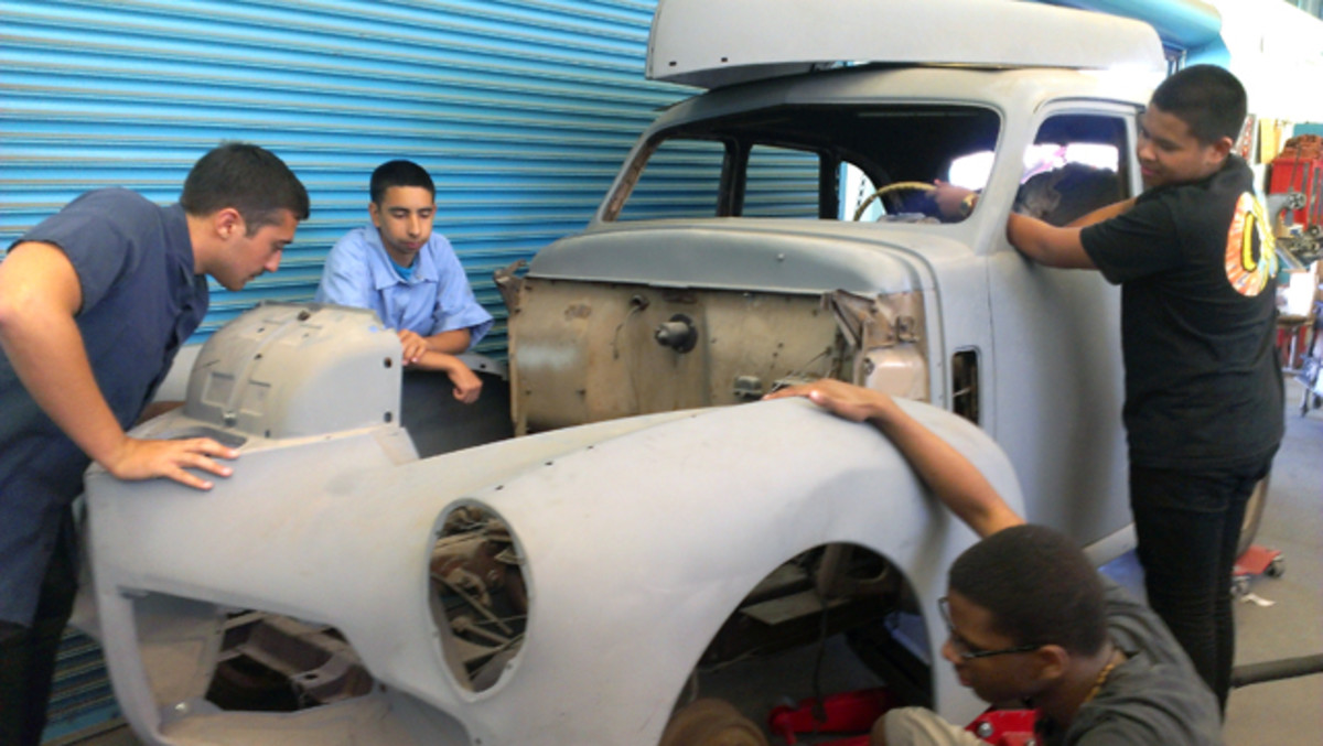 Thanks to Robert Roach's hard work and networking, students in his Los Angeles Unified School District auto shop classes are getting an early taste of the old car hobby.