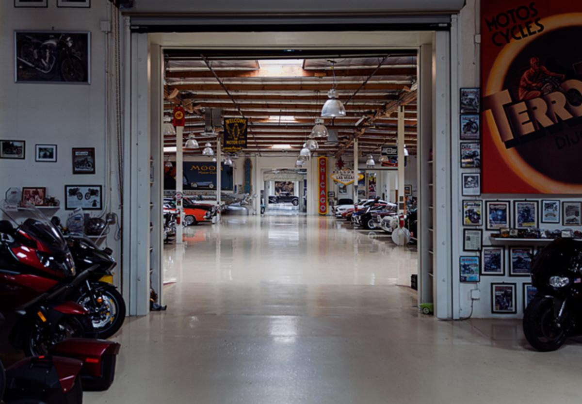 The Model J at home in Leno's Big Dog Garage.