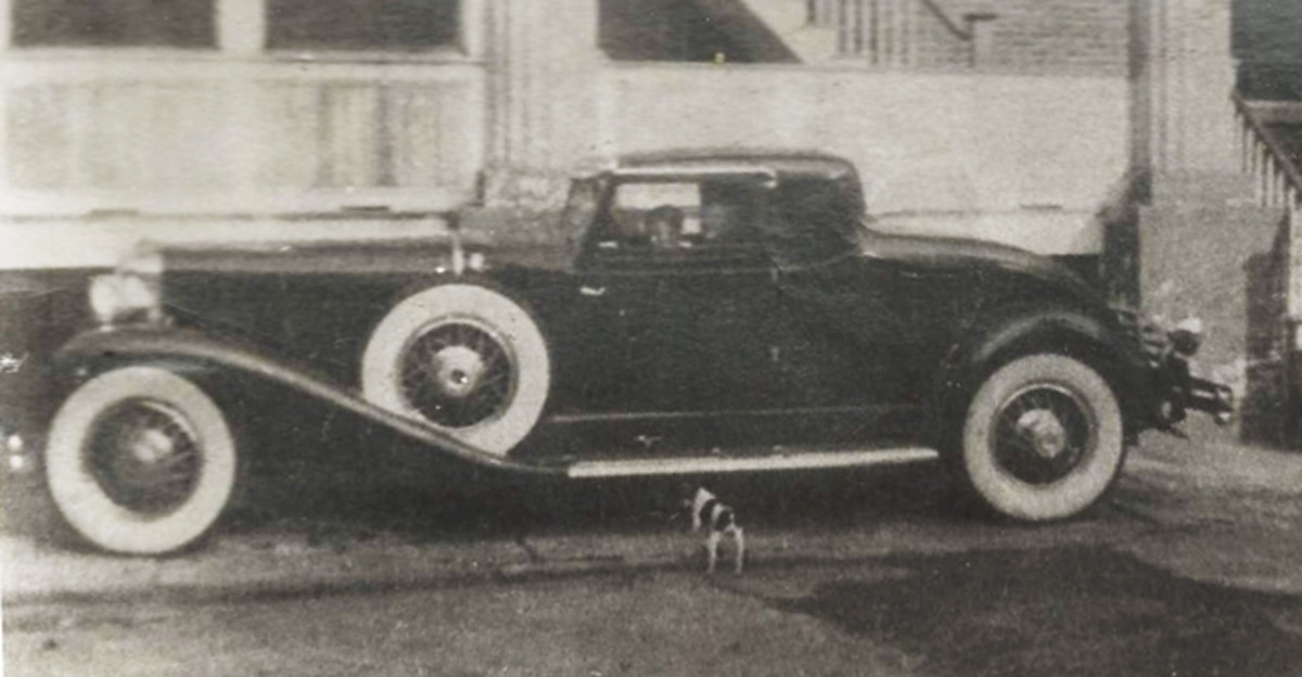 A surviving photo of one of those two LaGrande coupes in the hands of its owners. Note it still looks to be intact and unmolested. (Photo from Randy Ema collection)