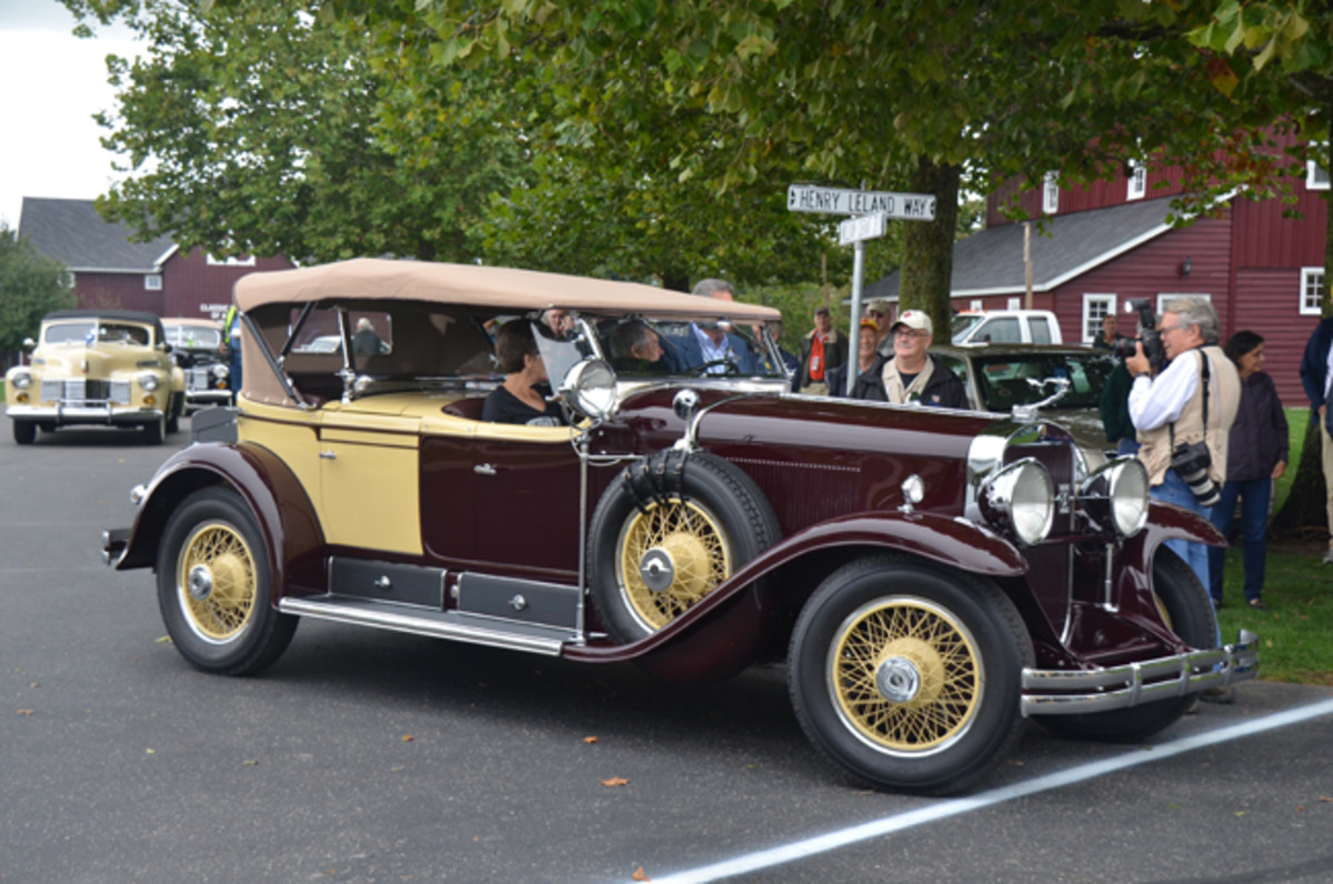 Best of Show winner of Saturday's Concours d'Elegance was this 1929 Cadillac dual cowl phaeton finished in correct original colors and with authentic accessories including the running board-mounted spotlight.