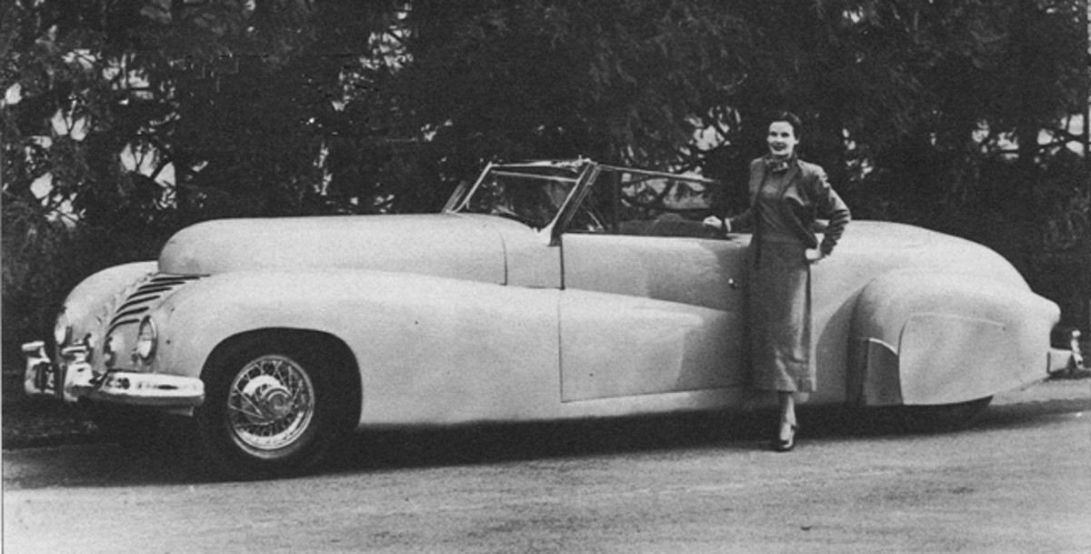 The fate of chassis 2428 is unknown, but by 1945, Leno's car (chassis 2432) had been fitted with this ghastly and bulbous convertible coupe body. (Photo from Randy Ema collection)